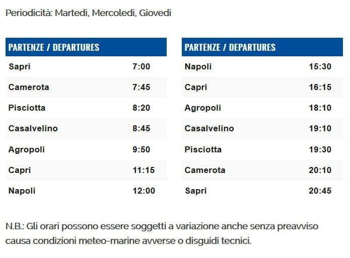 linea3 - Orari e costi Metro' del Mare dal 22 giugno