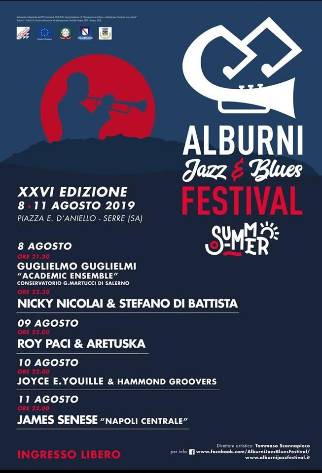 26 Alburni Jazz e Blues Festival 2019 Serre Cilento programma - Serre, 26° Alburni Jazz & Blues Festival - dall'8 Agosto all' 11 Agosto 2019