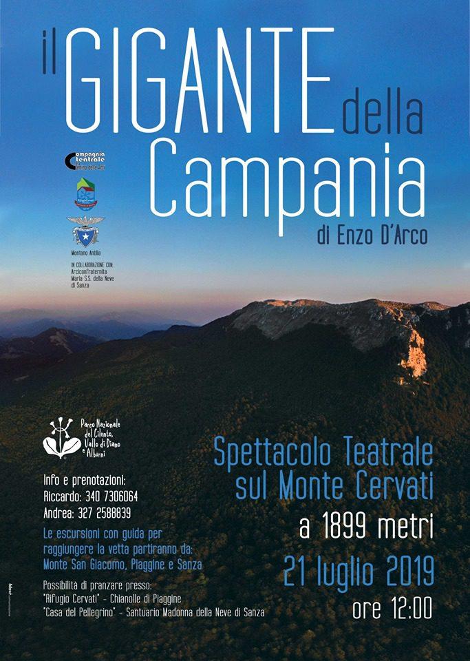 Il Gigante della Campania Monte Cervati Spettacolo teatrale Cilento programma  - Monte Cervati, Il Gigante della Campania - 21 Luglio 2019