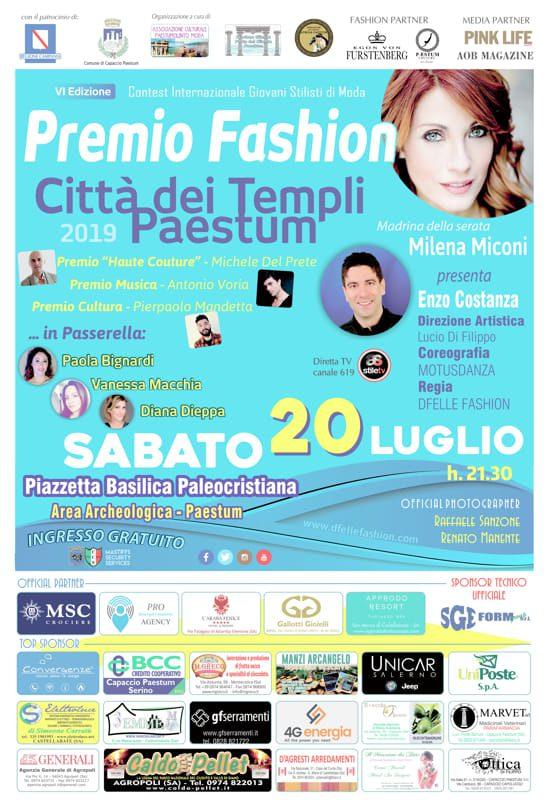 Locandina PAsetum 2019 def 2 - Paestum Capitale dell'Alta Moda, sabato 20 luglio 2019