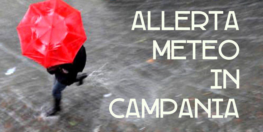 allerta meteo - Prorogato l'allerta meteo in Campania