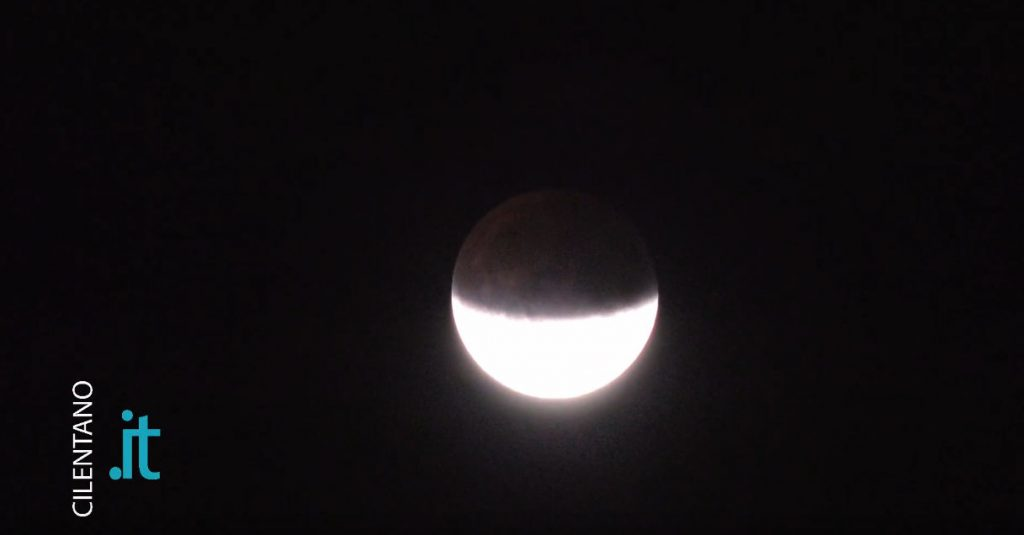 Eclissi di luna del 16 luglio 2019 dal Cilento – video in time elapse