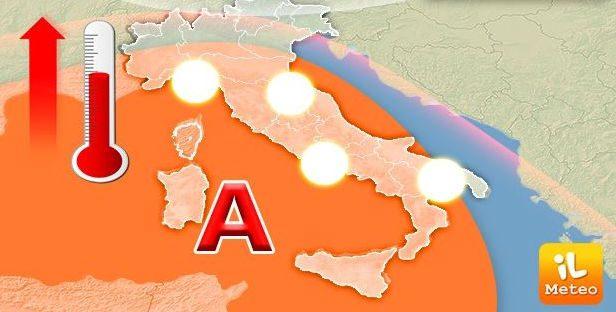 meteo 1 - Meteo: caldo in aumento