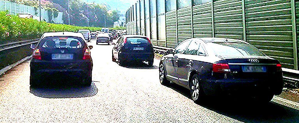 traffico - Salerno: traffico in tilt verso il sud e la costiera