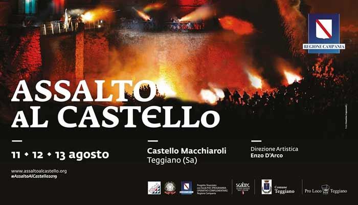 Assalto al Castello 2019 Teggiano Cilento - Teggiano, Assalto al Castello - serata conclusiva, oggi 13 agosto 2019