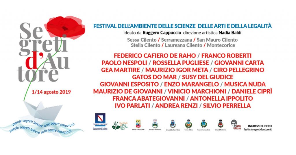 FB SHARE 1200X628V3 SdA 2019 1024x536 - Sessa Cilento, si conclude il 14 agosto Segreti d'autore con Andrea Renzi e Silvio Perrella