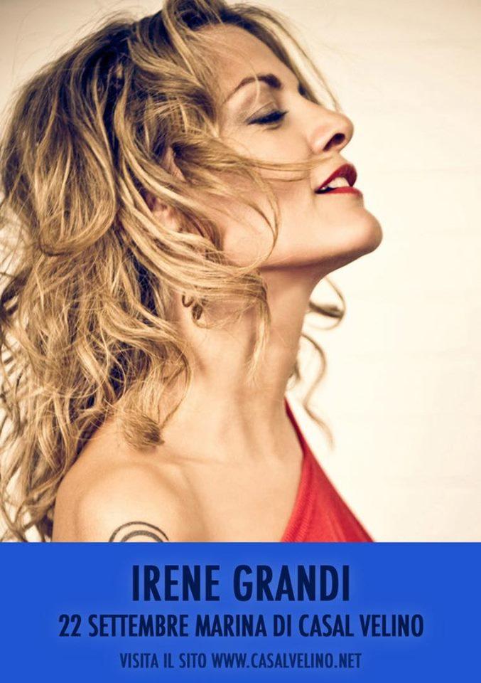 Irene Grandi Concerto 2019 Casalvelino Marina Cilento locandina - Casalvelino Marina, Irene Grandi in concerto - oggi 22 agosto 2019