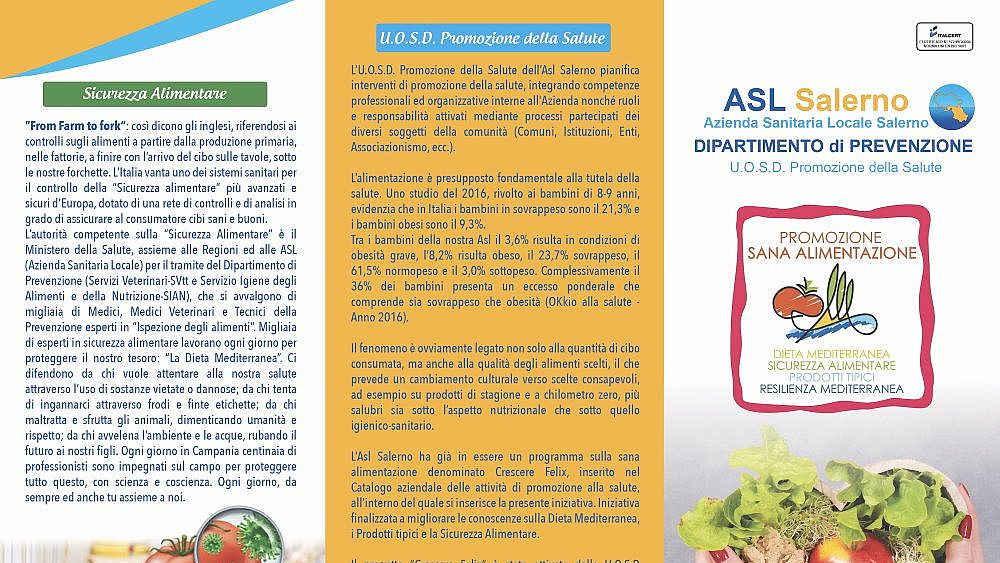 locandina - Cilento: in arrivo la campagna ASL su sicurezza alimentare e corretta alimentazione