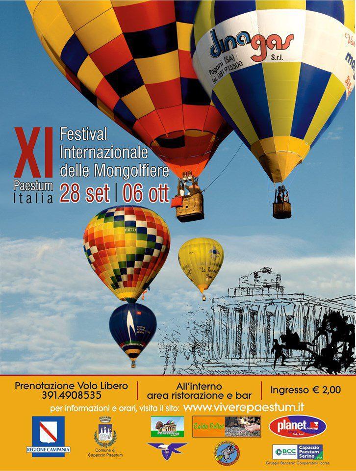 11 Festival internazionale delle mongolfiere 2019 Paestum Cilento info - Paestum, 11° Festival internazionale delle mongolfiere - dal 28 Settembre al 06 Ottobre 2019