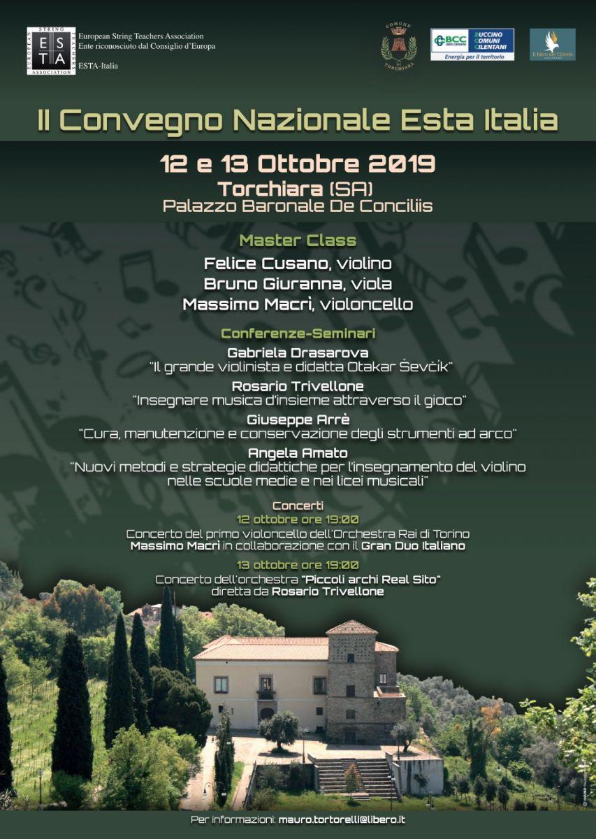 """11092019 esta 2019 - Torchiara, II Convegno Nazionale """"Esta Italia"""" - 12 e 13 ottobre 2019"""