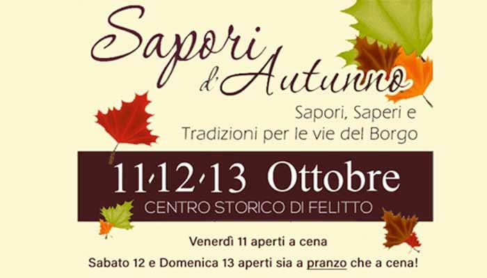 13 Sapori autunno 2019 Felitto Cilento - Felitto, 13° Sapori d'autunno - dal 11 al 13 Ottobre 2019