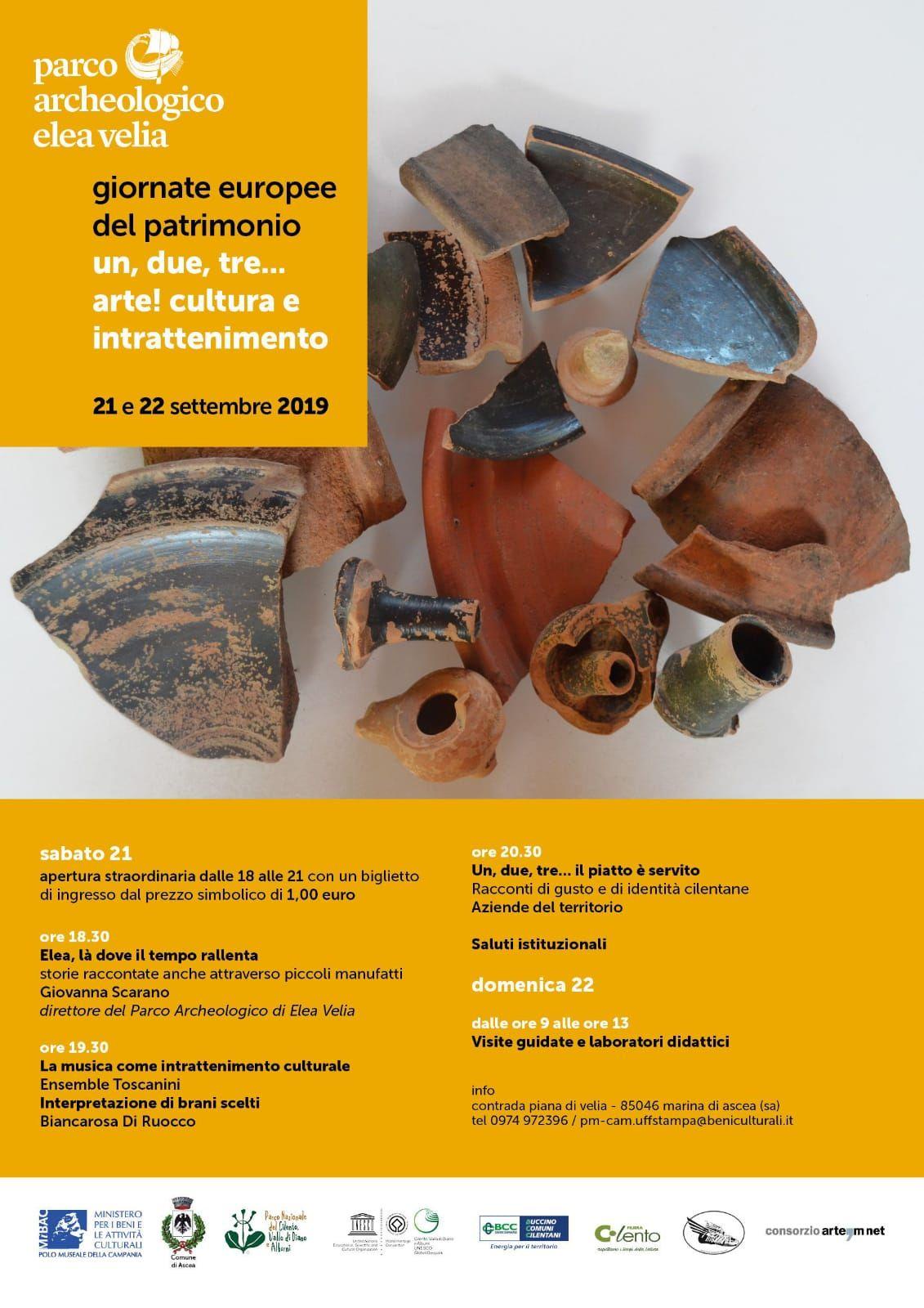 17092019 aperture parco archeologico di elea velia - Apertura straordinaria per il Parco Archeologico di Elea Velia - 21 e 22 settembre 2019
