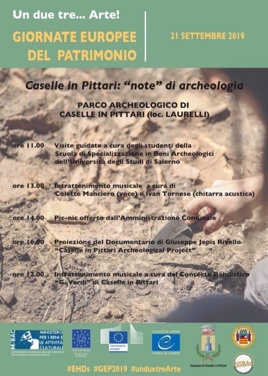 """19092019 locandinaxlaurelli21 09 19 - Caselle in Pittari: """"note"""" di archeologia - 21 Settembre 2019"""