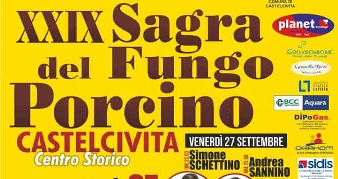 Castelcivita, 29° Sagra del Fungo Porcino – dal 27 al 29 Settembre 2019