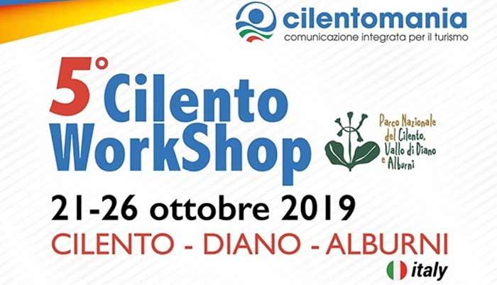 5 Cilento WorkShop 2019 Castellabate Cilento - Castellabate, 5° Cilento WorkShop - dal 21 al 26 Ottobre 2019