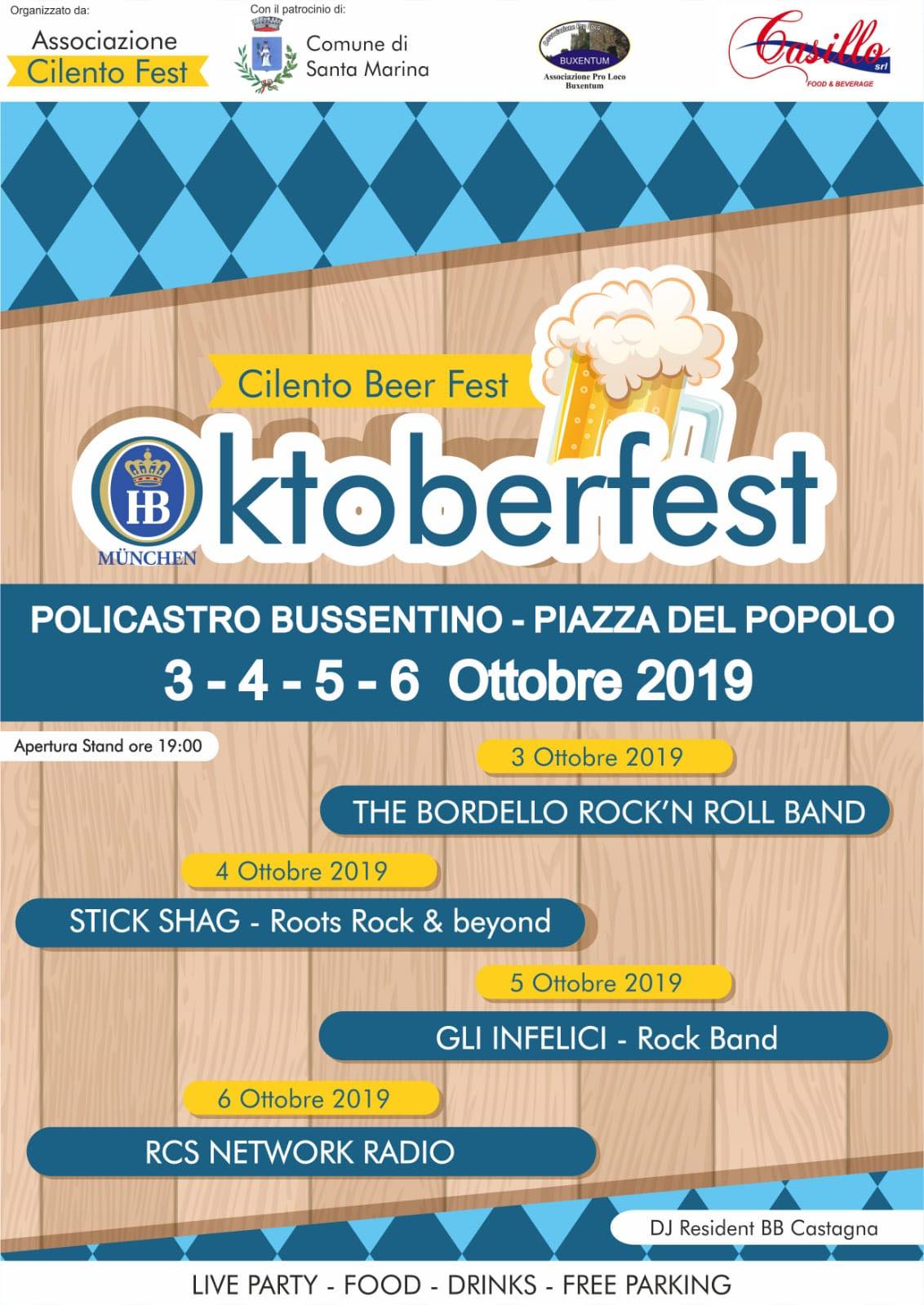 Oktoberfest Policastro - A Policastro (SA) arriva l'Oktoberfest CILENTO BEER FEST