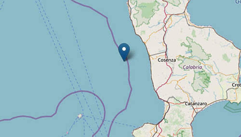 terremoto - Calabria, scossa di magnitudo 4.2