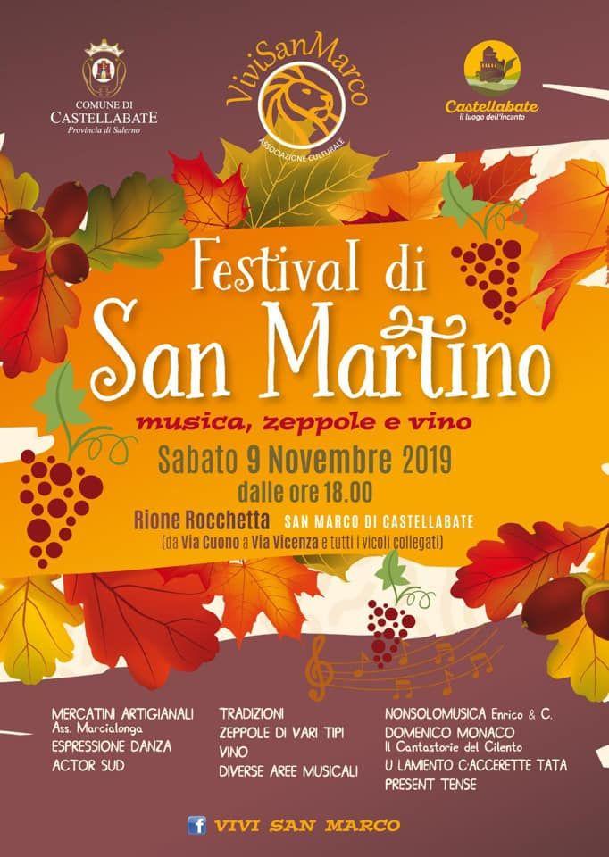 """21102019 festival di san martin0 - Castellabate: Festival di San Martino """"Musica, Zeppole e Vino"""""""