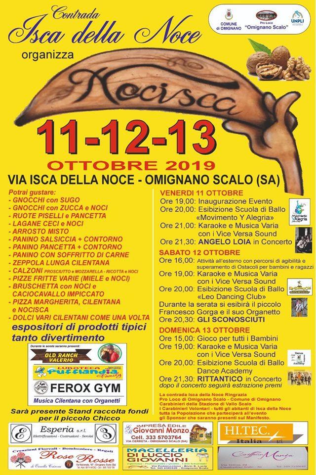 4 Nocisca 2019 Omignano Scalo Cilento noce Programma - Omignano Scalo, 4° Nocisca - 11 12 e 13 ottobre 2019