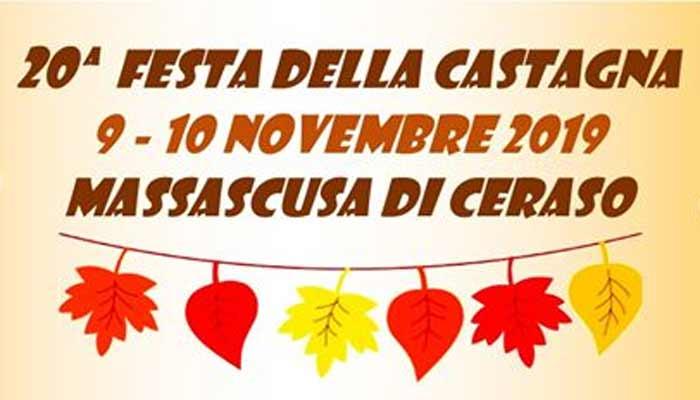 20 Festa della castagna 2019 Massascusa di Ceraso - Massascusa di Ceraso, 20° Festa della castagna - 9 e 10 novembre 2019