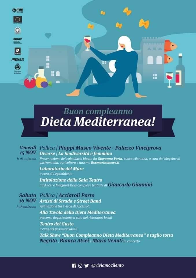 Buon compleanno Dieta Mediterranea 2019 Pollica Cilento programma - Pollica, Buon compleanno Dieta Mediterranea - dal 15 al 16 Novembre 2019
