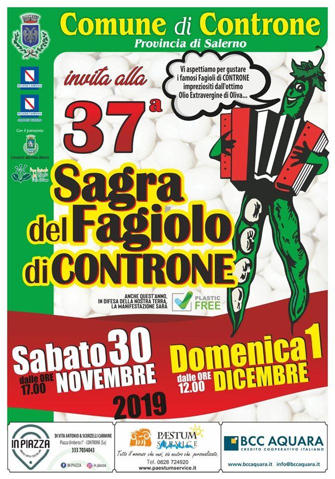 """Sagra del Fagiolo - Controne, weekend con il fagiolo: """"Sagra del fagiolo"""" - 30 Novembre e domenica 1 dicembre"""