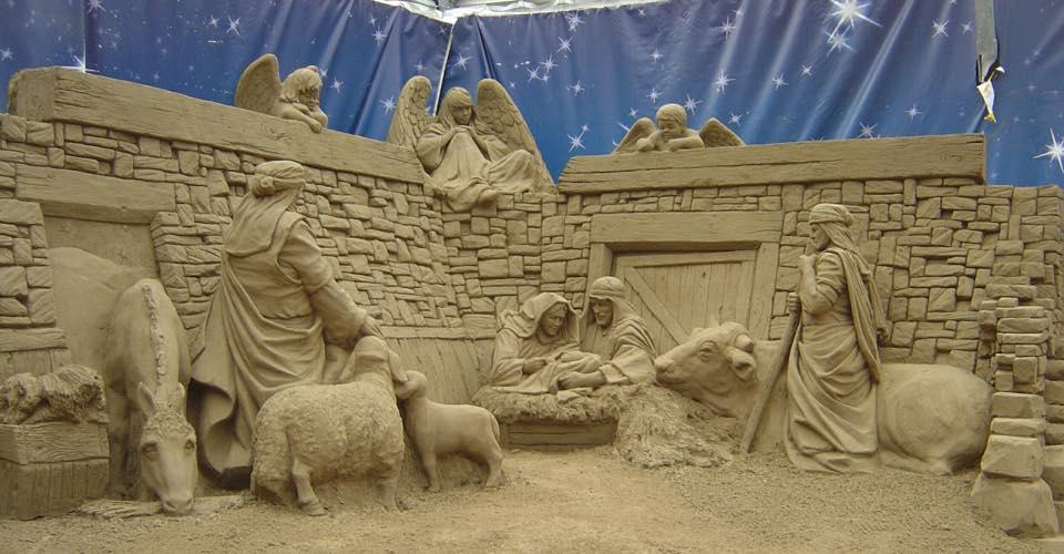 Natale a Salerno con i presepi di sabbia