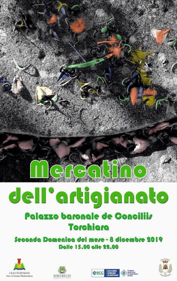"""03122019 locandina artigianato 8 dic - Torchiara, rassegna """"Smart Collection"""" - Cilento International Music Festival - 8 dicembre"""