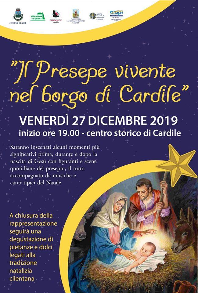 Presepe Vivente 2019 borgo Cardile Cilento Locandina - Cardile, Presepe vivente 2019 - 27 dicembre 2019