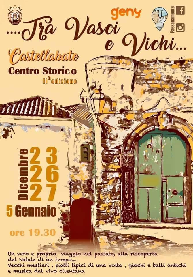 Tra vasci e vichi 2019 Castellabate Cilento Prgramma - Castellabate, TRA VASCI E VICHI - dal 23 Dicembre al 05 Gennaio 2019