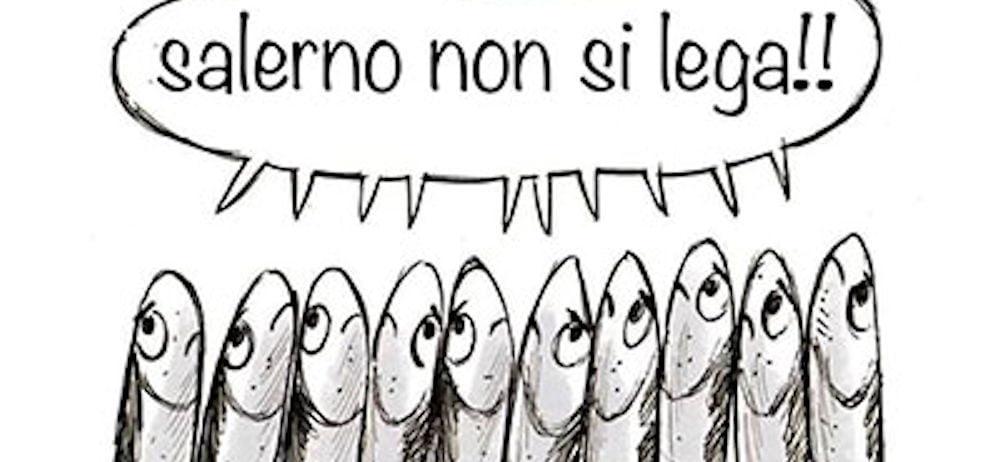 sardine salerno manifesto facebook - Salerno non si lega: #6000 sardine a Piazza Portanova - 6 Dicembre 2019