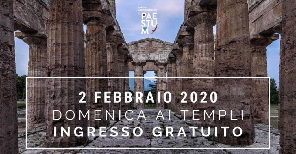 Domenica ai Templi di Paestum – Ingresso gratuito 2 febbraio 2020