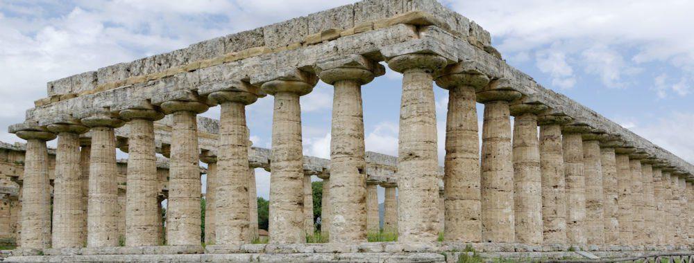 """La """"Basilica"""" di Paestum unico tempio dove si entra in carrozzina"""