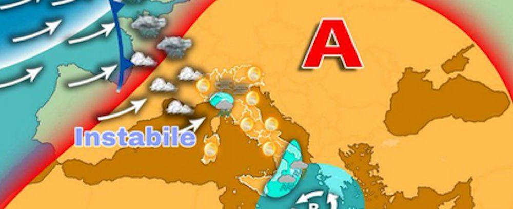 meteo - Meteo, l'alta pressione sta per finire: in arrivo piogge