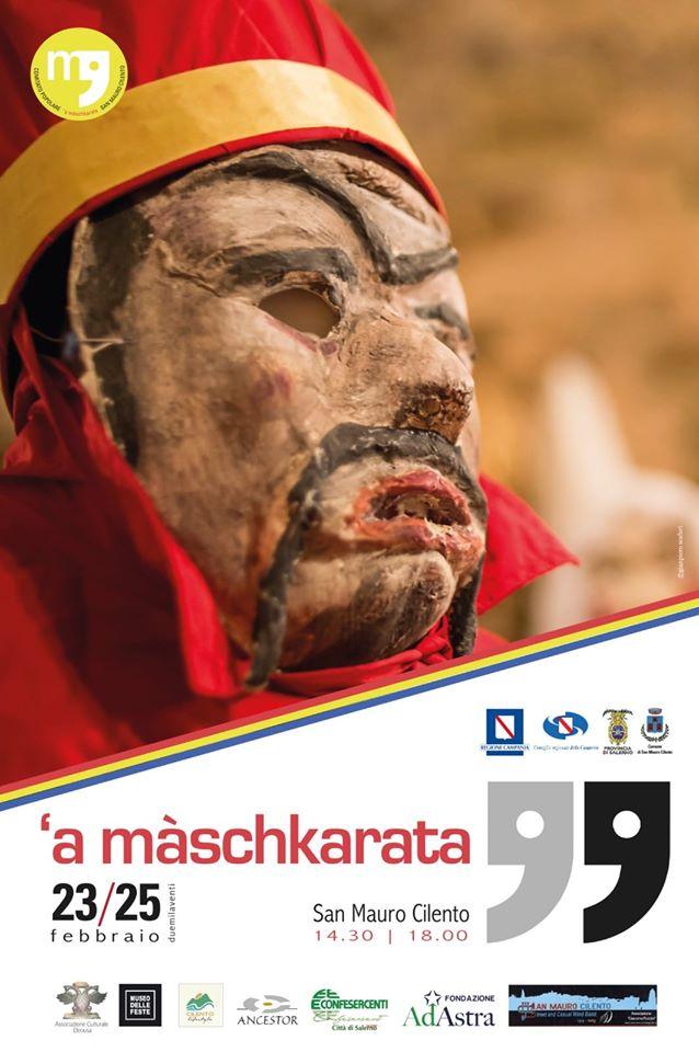 A Maschkarata 2020San Mauro Cilento locandina - San Mauro Cilento, A Màschkarata - dal 23 al 25 Febbraio 2020