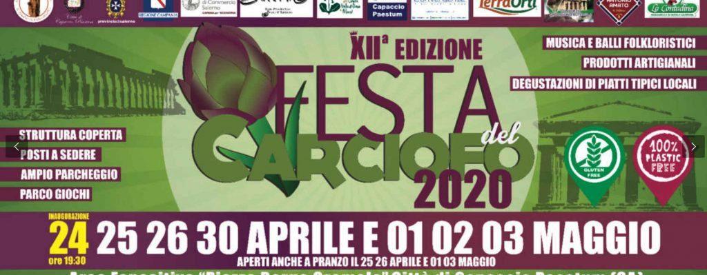 Gromola, 12° Festa del Carciofo IGP di Paestum – dal 24 Aprile al 3 Maggio 2020