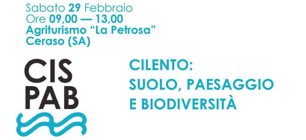 Ceraso, progetto (CiSPaB) Cilento, Suolo, Paesaggio e Biodiversità – 29 Febbraio 2020