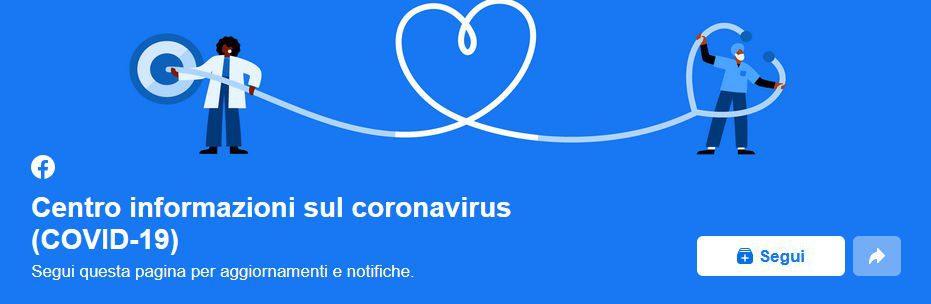 face - Facebook lancia pagina informativa sul coronavirus