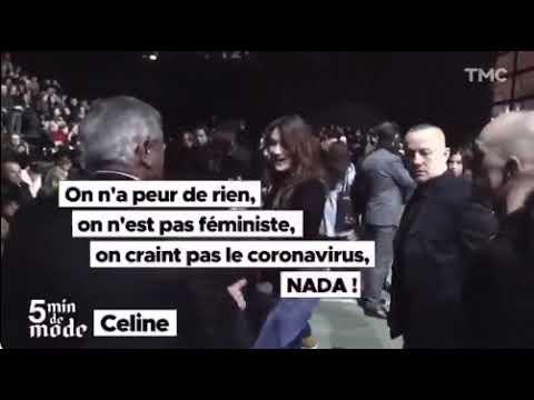 (Se non ce lo bloccano) ecco il video del giorno: Carla Bruni che simula di avere il covid… – video