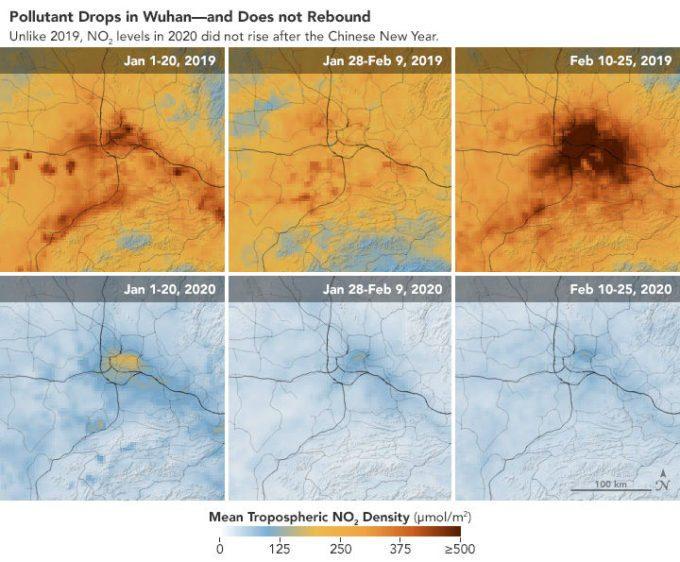 Coronavirus ed effetti climatici: arrivano i primi dati – mappe virtuali online