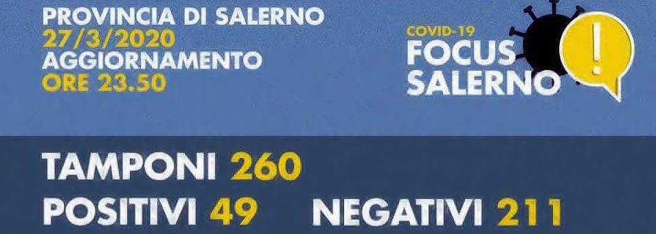 sa - ANDAMENTO QUOTIDIANO COVID-19 IN PROVINCIA DI SALERNO