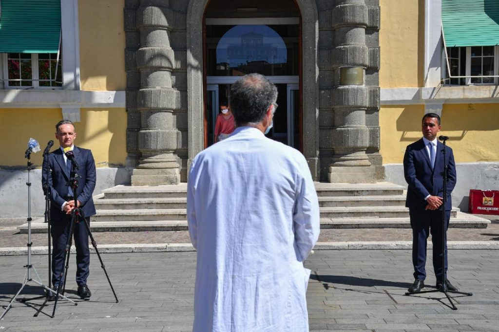 """dimaio maas spallanzani farnesina tw 1024x682 - Italia-Germania, Di Maio a Maas: """"Crisi ha rafforzato cooperazione"""""""