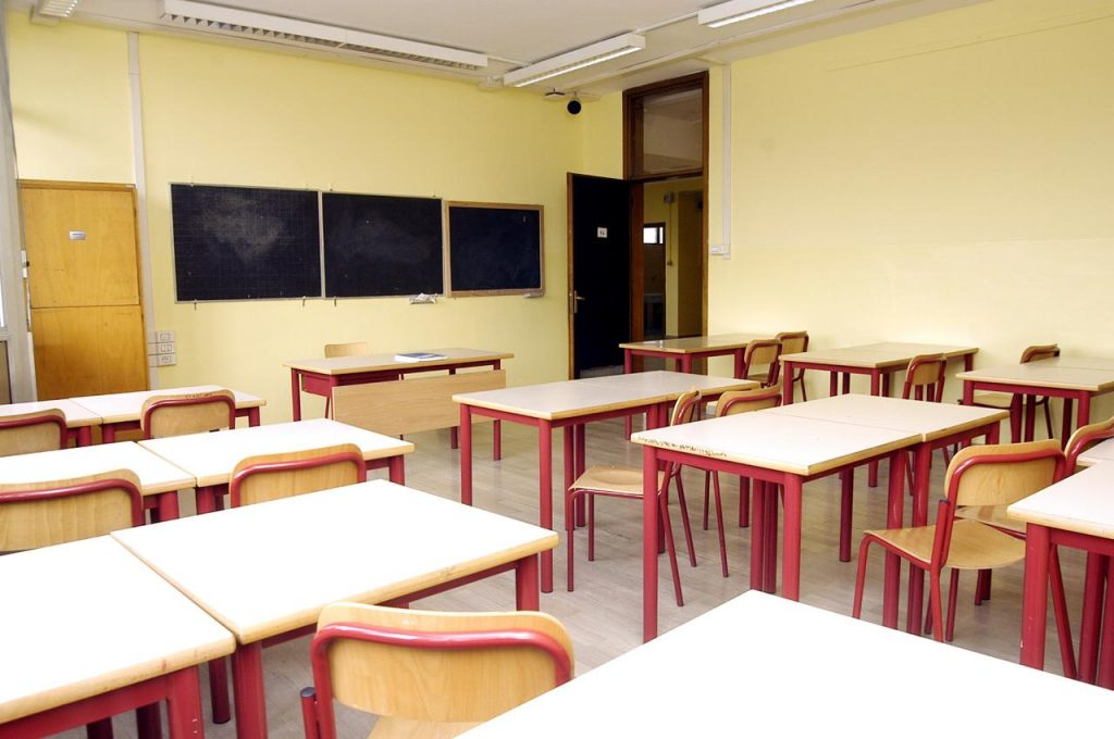 """scuola aula vuota Fg 1024x680 - """"Piano scuola? Meglio più opzioni"""""""