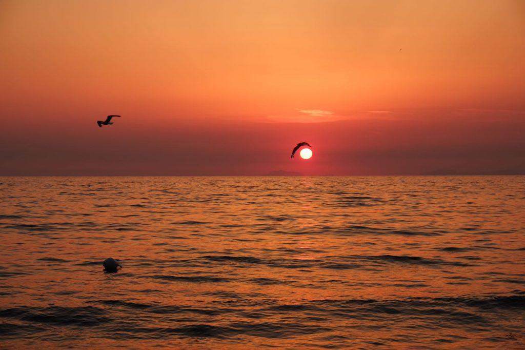 Il puzzle della domenica: tramonto da Ascea Marina