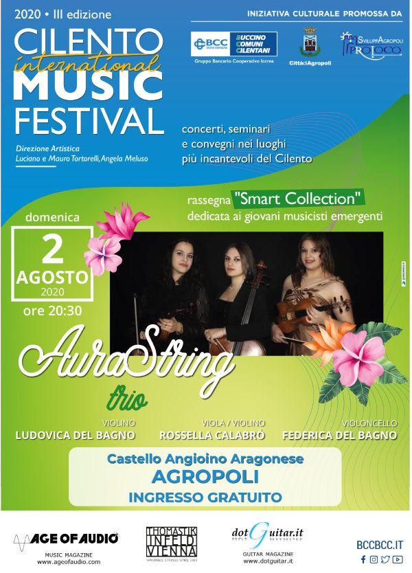 29072020 bcc cilmusicfest 2agosto defin - Castello di Agropoli, Smart Collection: nuovo appuntamento con la Musica - 2 agosto 2020