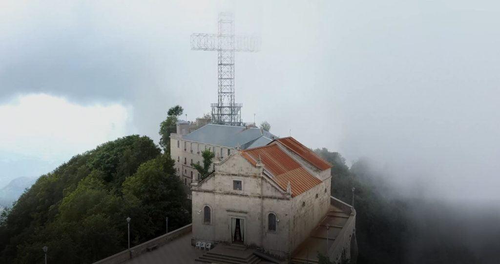 NVINUBI 1024x541 - Il Santuario del Monte Gelbison visto dal drone e la leggenda del cavaliere - Il video dal drone in 4k