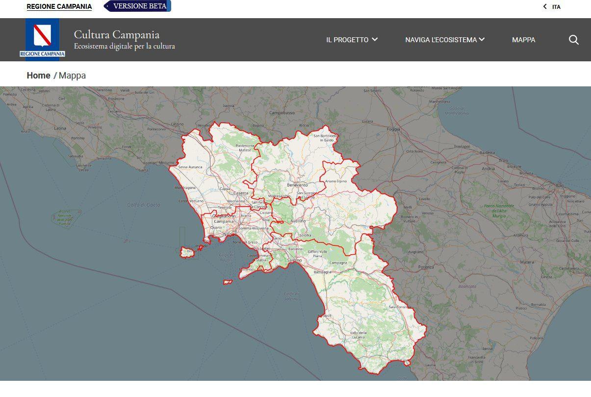 mappa - Fare un tour virtuale del Cilento e Diano (e di tutte le bellezze della Campania) e' possibile - la versione beta