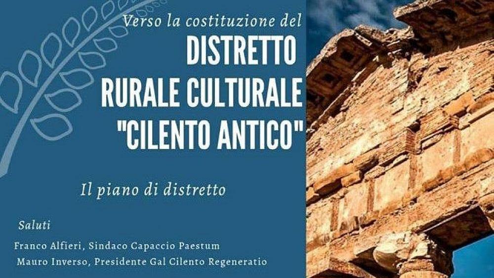 """19082020 locandina evento 21 agosto 03 - Paestum, incontro """"Verso la costituzione del Distretto Rurale Culturale Cilento Antico"""""""