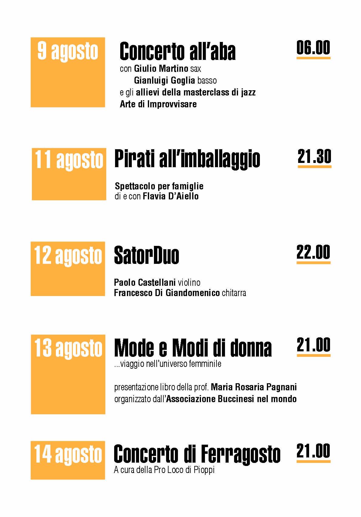 2 1 - Pioppi, 5° Festival della Dieta Mediterranea - dall'8 all'1 Settembre 2020