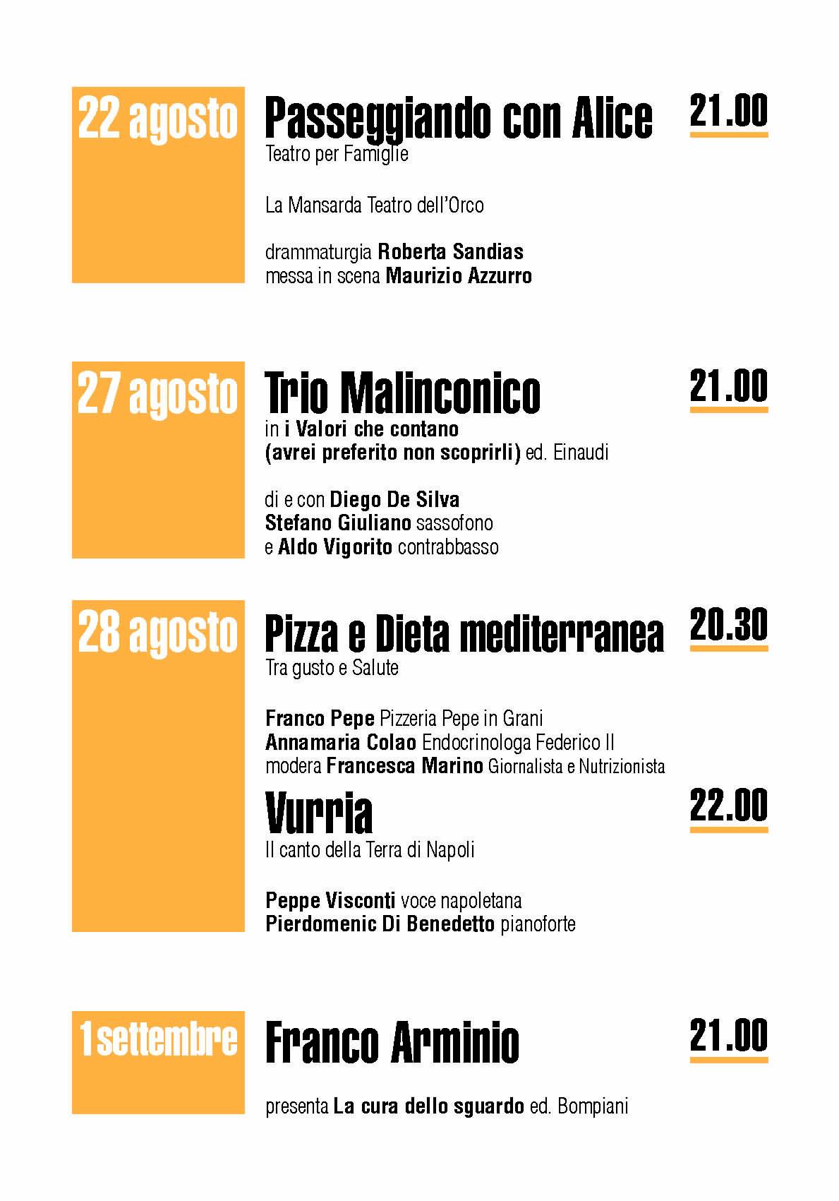4 - Pioppi, 5° Festival della Dieta Mediterranea - dall'8 all'1 Settembre 2020